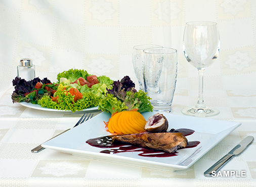 【8月のディナー】魚とお肉から選べるフルコース
